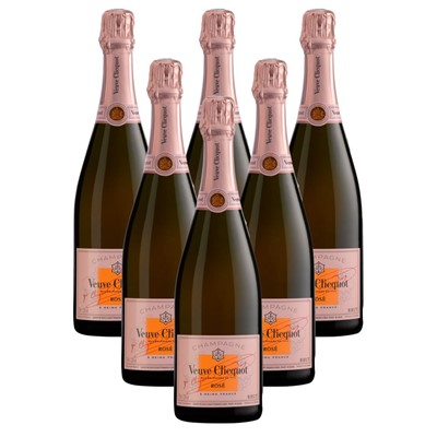Case of 6 Veuve Clicquot Rose Champagne 75cl (6x75cl)