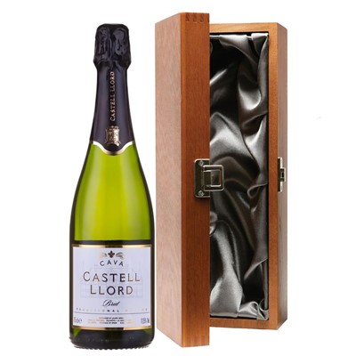 Castell Llord Brut Cava  75cl in Luxury Gift Box