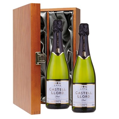 Castell Llord Brut Cava  75cl Twin Luxury Gift Boxed (2x75cl)