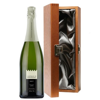 Castillo de Mont-Blanc Cava 75cl in Luxury Gift Box
