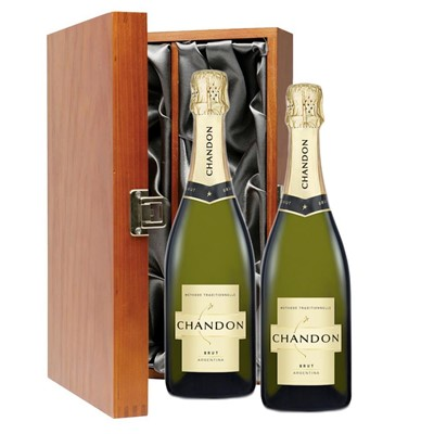 Chandon Brut Sparkling Wine 75cl Twin Luxury Gift Boxed (2x75cl)