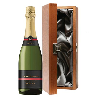 Chapel Down Brut NV English Sparkling Wine 75cl in Luxury Gift Box