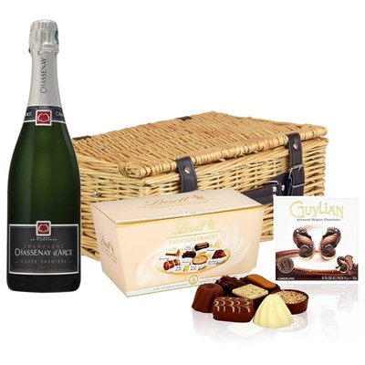 Chassenay d'Arce Cuvee Premiere Brut Champagne 75cl And Chocolates Hamper