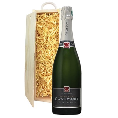 Chassenay d'Arce Cuvee Premiere Brut Champagne 75cl In Pine Gift Box
