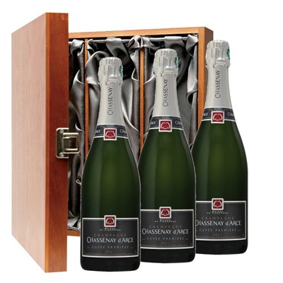 Chassenay d'Arce Cuvee Premiere Brut Champagne 75cl Three Bottle Luxury Gift Box