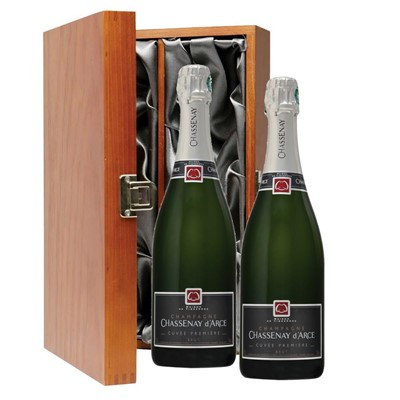 Chassenay d'Arce Cuvee Premiere Brut Champagne 75cl Twin Luxury Gift Boxed (2x75cl)