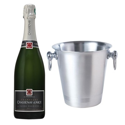 Chassenay d'Arce Cuvee Premiere Brut Champagne 75cl With Ice Bucket Set