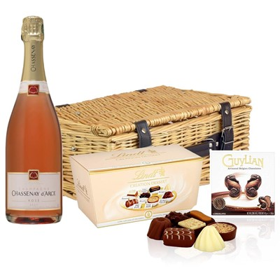 Chassenay d'Arce Rose Champagne 75cl And Chocolates Hamper