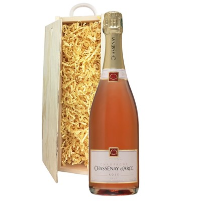 Chassenay d'Arce Rose Champagne 75cl In Pine Gift Box