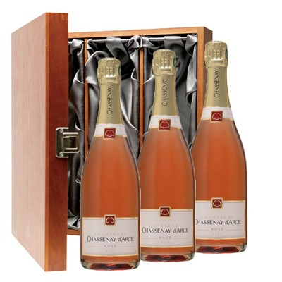 Chassenay d'Arce Rose Champagne 75cl Three Bottle Luxury Gift Box