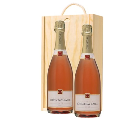 Chassenay d'Arce Rose Champagne 75cl Twin Pine Wooden Gift Box (2x75cl)