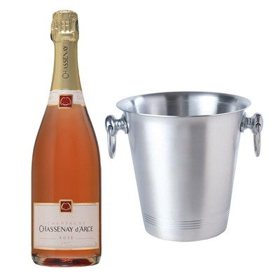 Chassenay d'Arce Rose Champagne 75cl With Ice Bucket Set