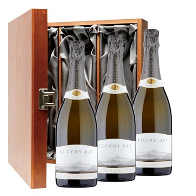 Cloudy Bay Pelorus Sparkling Wine 75cl Three Bottle Luxury Gift Box