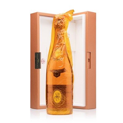 Buy a single bottle of Louis Roederer Cristal Rose Vintage 2006 Champagne 75cl Presented in a Fabulous Gold Presentation case. Cristal by Louis Roederer is the worlds most prestigious Champagne. Vintage 2006. . Price includes free UK Mainland Delivery, and Exports and international delivery available.