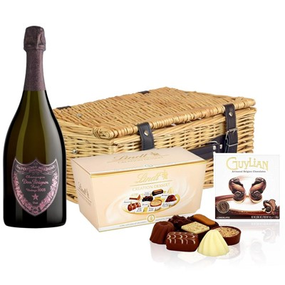Dom Perignon Rose 2006 Champagne 75cl And Chocolates Hamper