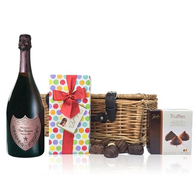 Dom Perignon Rose and Chocolates Hamper