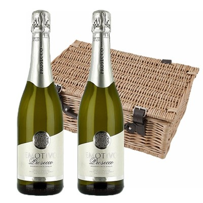 Emotivo Prosecco 75cl Twin Hamper (2x75cl)