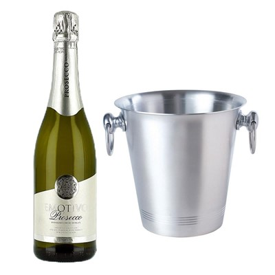Emotivo Prosecco 75cl With Ice Bucket Set