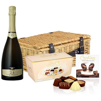 Gancia Metodo Classico Cuvee 24 Mesi Asti 75cl And Chocolates Hamper