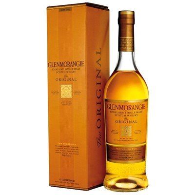 Glenmorangie 10 Year Old Original Single Malt Whisky The flagship of the Glenmorangie range is realised only after a decade in American Mountain Oak casks from where the unique flavour of Glenmorangie is fully developed. It's colour is bright with a hint of pale blue it's aroma is light delicate and floral with a subtle smokiness for a well balanced fresh andaromatic flavour.  . Price includes free UK Mainland Delivery, and Exports and international delivery available.