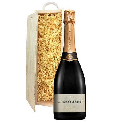 Gusbourne 2014 Brut Reserve English Sparkling Wine 75cl In Pine Gift Box