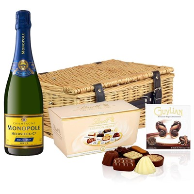 Heidsieck & Co. Monopole Blue Top Brut Champagne 75cl And Chocolates Hamper