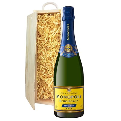 Heidsieck & Co. Monopole Blue Top Brut Champagne 75cl In Pine Gift Box