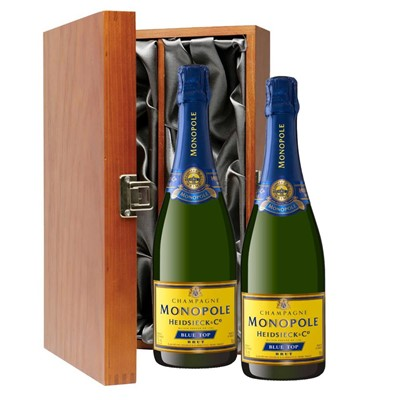 Heidsieck & Co. Monopole Blue Top Brut Champagne 75cl Twin Luxury Gift Boxed (2x75cl)