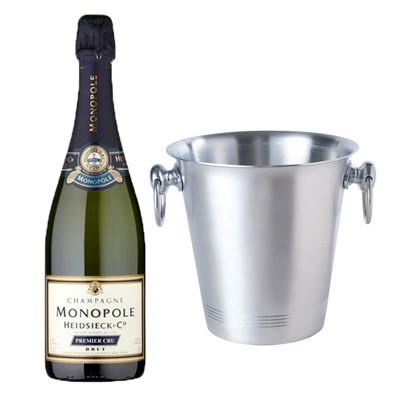 Heidsieck & Co. Monopole Premier Cru Brut Champagne 75cl With Ice Bucket Set