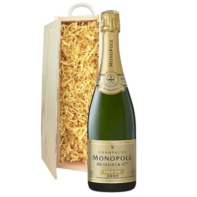 Heidsieck & Co. Monopole Vintage Champagne 75cl In Pine Gift Box