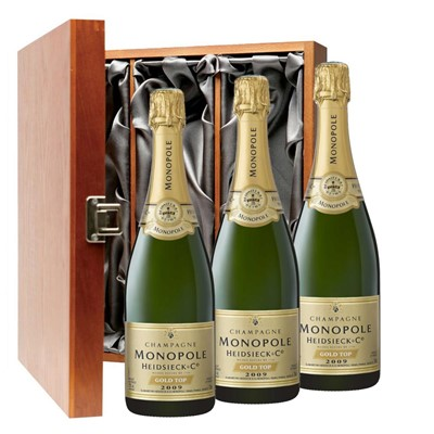 Heidsieck & Co. Monopole Vintage Champagne 75cl Three Bottle Luxury Gift Box