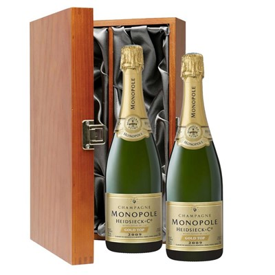 Heidsieck & Co. Monopole Vintage Champagne 75cl Twin Luxury Gift Boxed (2x75cl)