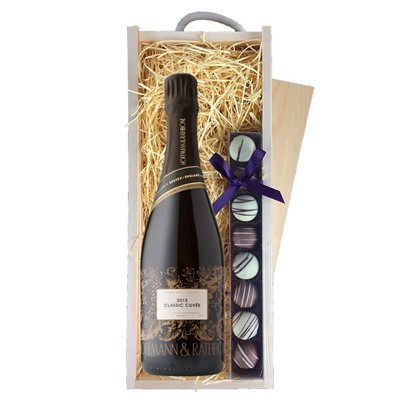 Hoffmann And Rathbone Classic Cuvee & Champagne Truffles, Wooden Box