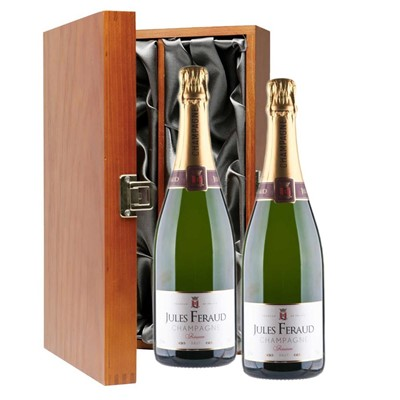 Jules Feraud Brut Champagne 75cl Twin Luxury Gift Boxed (2x75cl)