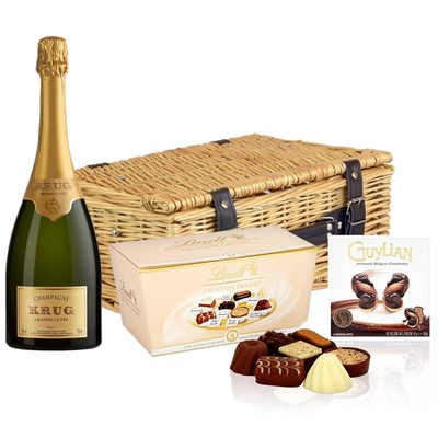 Krug Grande Cuvee Brut Champagne 75cl And Chocolates Hamper