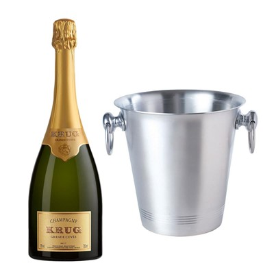 Krug Grande Cuvee Brut Champagne 75cl With Ice Bucket Set