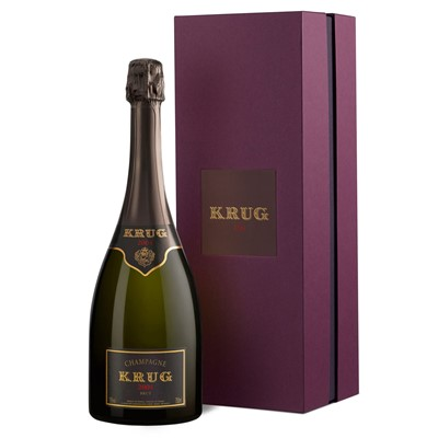 Buy Vintage Champagne Send a single bottle of Krug Prestige Vintage Champagne 75cl Presented in a stylish Krug Gift Box with Gift Card for your personal message The King of Champagnes the Grande Cuvee has a rich seductive citrusy full bodied taste. . Price includes free UK Mainland Delivery, and Exports and international delivery available.