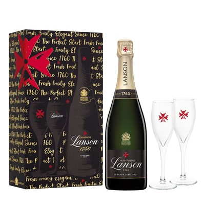 Lanson Black Label and 2 Flutes Pack