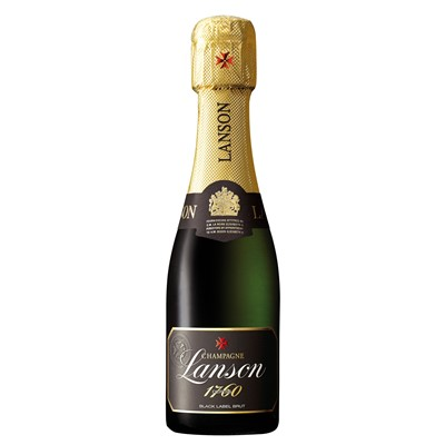 Buy a Case x 24 Mini Champagne bottle of lanson Black champagn If there is one Non Vintage Brut champagne that is universally appreciated it is surely Lanson Black Label a great classic that embodies the ideas and the character of a great House.A quality Champagne loved the world over and is a showcase for the ideas and character of those making it. Three grape varieties come into making of Lanson Brut: Pinot Noir and Pinot Meunier black grapes and Chardonnay white grapes . Non gift boxed . Price includes free UK Mainland Delivery, and Exports and international delivery available.