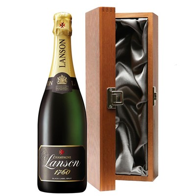 Lanson Black Label Brut Champagne 75cl in Luxury Gift Box