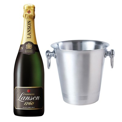Lanson Black Label Brut Champagne 75cl With Ice Bucket Set