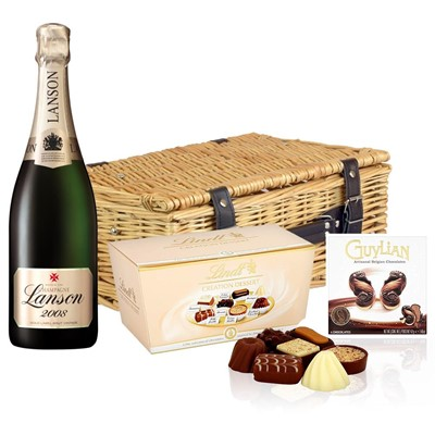 Lanson Gold Label 2008 Vintage Champagne 75cl And Chocolates Hamper