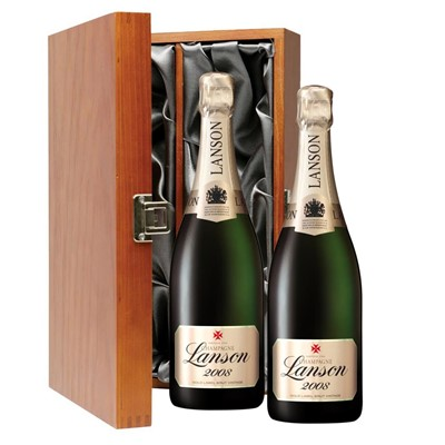 Lanson Gold Label 2008 Vintage Champagne 75cl Twin Luxury Gift Boxed (2x75cl)