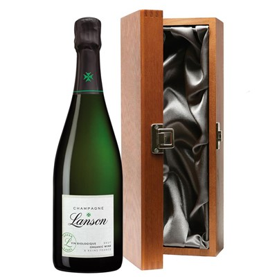 Lanson Green Label Organic Champagne 75cl in Luxury Gift Box