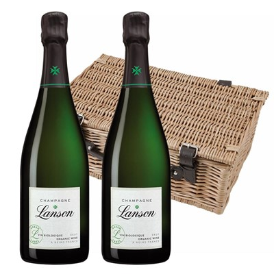 Lanson Green Label Organic Champagne 75cl Twin Hamper (2x75cl)