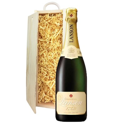 Lanson Ivory Label Demi-Sec Champagne 75cl In Pine Gift Box