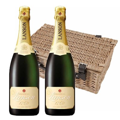 Lanson Ivory Label Demi-Sec Champagne 75cl Twin Hamper (2x75cl)