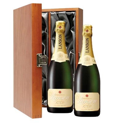 Lanson Ivory Label Demi-Sec Champagne 75cl Twin Luxury Gift Boxed (2x75cl)