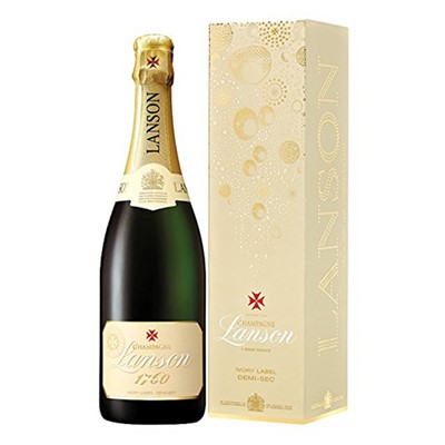 Lanson Ivory Label Demi-Sec, Gift Boxed 75cl