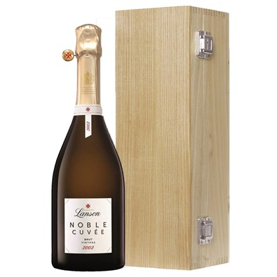 Lanson Noble Cuvee Brut 2002 Vintage Champagne 75cl Oak Luxury Gift Boxed